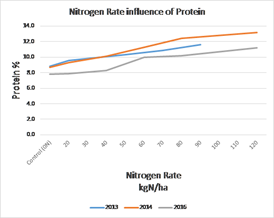 N rate influence of Protein