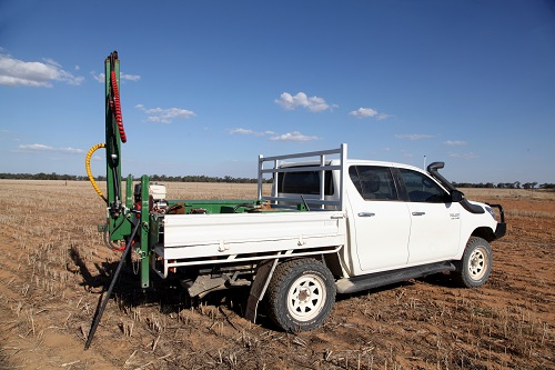 An extensive soil testing program is being used to determine the nature of the variability on Hassad Australia's properties and its agronomic importance. Around 2500 soil tests have been taken so far.